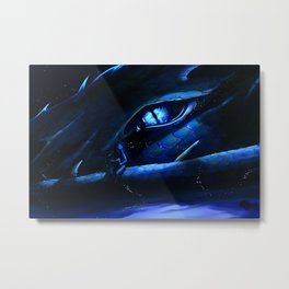 The Dragon and the Scholar Metal Print