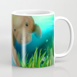 Manatee Illustration Coffee Mug