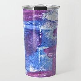 Royal purple abstract watercolor Travel Mug