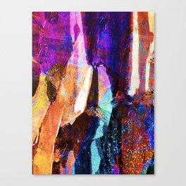 ABSTRACT NATURE // NEW ZEALAND // RAINBOW ROCKS Canvas Print