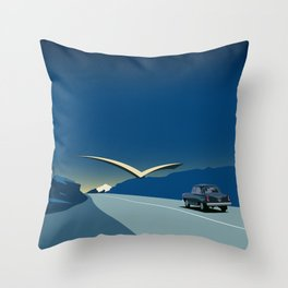 "Soviet Modernism: ""Seagull"" road mark at the northern entry of Yerevan Throw Pillow"