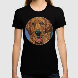 Coper the Golden Retriever Dog Portrait T-shirt