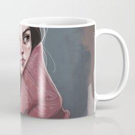 Wild Girl in the cold night Coffee Mug