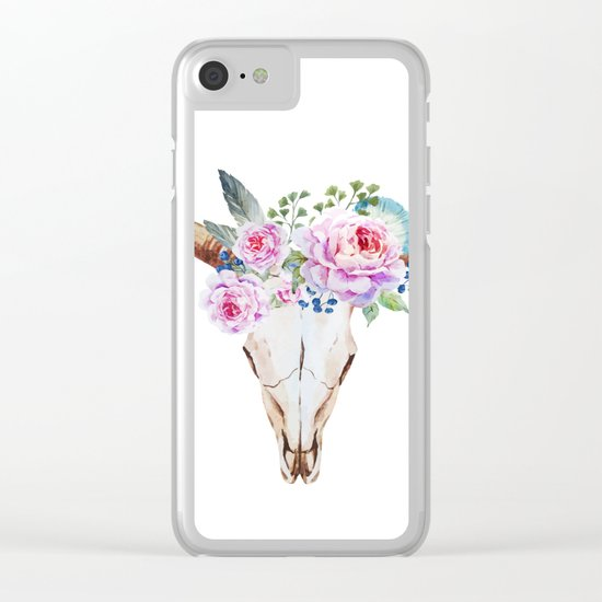 Animal Skull 07 Clear iPhone Case