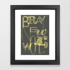 Brave New World, Book Cover Redesign Framed Art Print