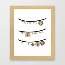 My Sun Moon & Stars2 Framed Art Print