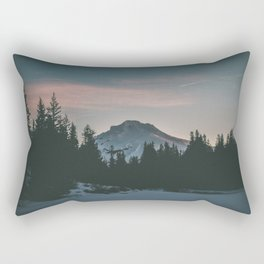 Frozen Mirror Lake Rectangular Pillow