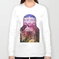 christ Long Sleeve T-shirts featuring Thrice Christ by EclecticArtistACS