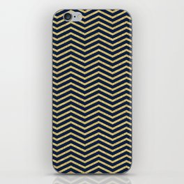 Gold And Navy Zig Zags iPhone Skin