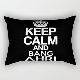 Keep Calm and Bang Ahri Rectangular Pillow