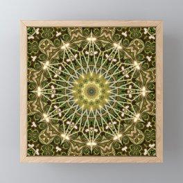 Geometric Forest Mandala Framed Mini Art Print