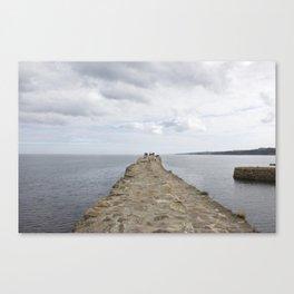 Sea wall St. Andrews Canvas Print