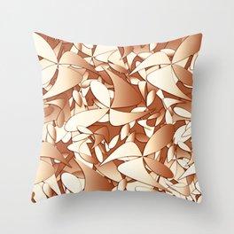 Pattern brown 156 Throw Pillow