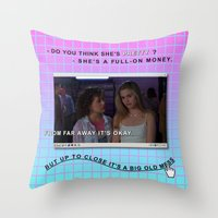 clueless Throw Pillows featuring Clueless x Monet by Lisa-Roxane Lion