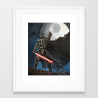 death star Framed Art Prints featuring Death Star by Laura-A