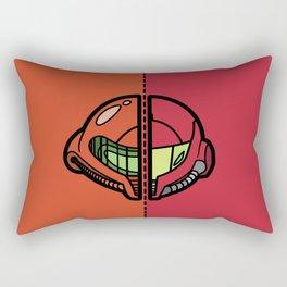 Old & New Samus Aran Rectangular Pillow