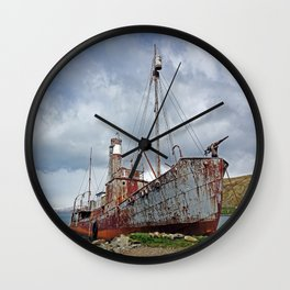 Whaling Ship with Gun Wall Clock