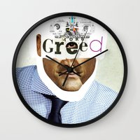 motivation Wall Clocks featuring Mankind Motivation 2 by Marko Köppe