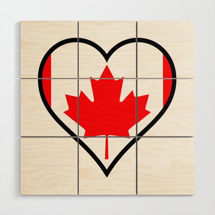 Love Canada Wood Wall Art By Homestead