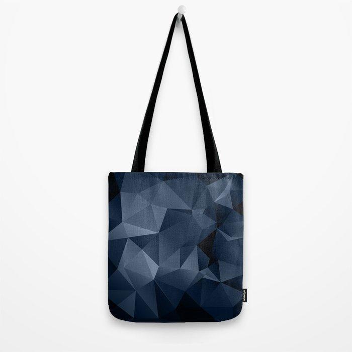 Black and blue polygonal pattern . Tote Bag