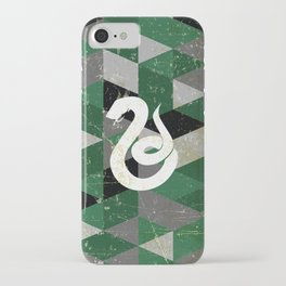 Slytherin House Pattern iPhone Case