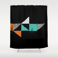 shark Shower Curtains featuring Shark by Last Call