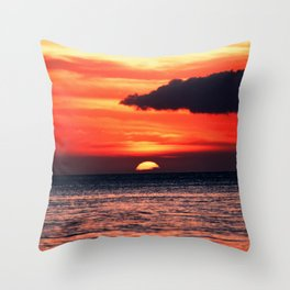 Big Island Hawaii Sunset Throw Pillow