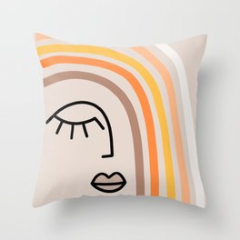 Rainbow State of Mind - earthy Throw Pillow