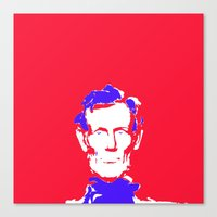 lincoln Canvas Prints featuring Lincoln by Mylittleradical