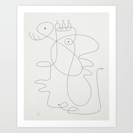 Queen & King Art Print