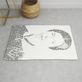 Word Portrait - Emily Dickinson - Hope is the Thing with Feathers Rug