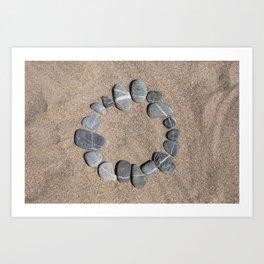 Circle Made Of Pebble Art Print