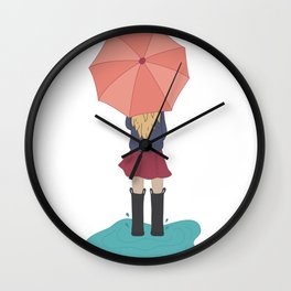 Play in the Puddles Wall Clock