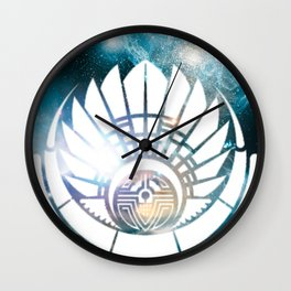 Crop Circle in Space Wall Clock