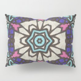 Saturn in Teal Leather - Photo of Leather, Suede and Krafttech Art Pillow Sham