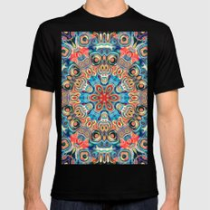 Abstract Tribal Mandala Black MEDIUM Mens Fitted Tee
