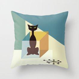 Schrodinger's cat Throw Pillow