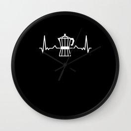 Barista Heartbeat Wall Clock