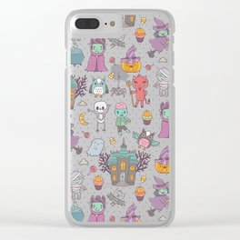 Happy Halloween Clear iPhone Case