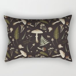 Mushroom pattern 1 black Rectangular Pillow