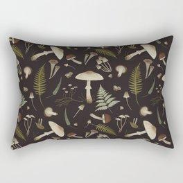 Mushroom pattern 1 black Rectangular Pillow