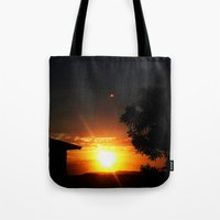 ufo Tote Bags featuring UFO by Shemaine