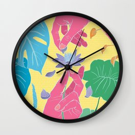 Love Me/Not Wall Clock