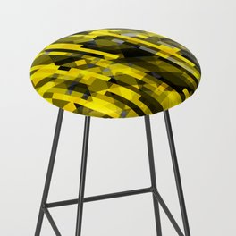 abstract composition in yellow and grays Bar Stool