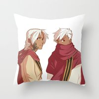 fullmetal Throw Pillows featuring Ishvalan Elric Brothers by Anyeka