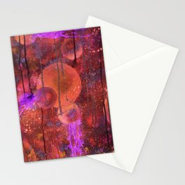 Red Spheres Stationery Cards