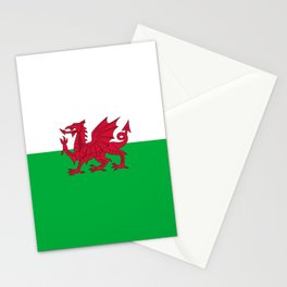 Flag of Wales,uk,great britain,dragon,cymru, welsh,celtic,cymry,cardiff,new port Stationery Cards