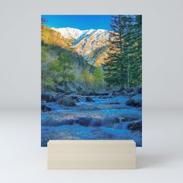 River Bed Sunrise // Long Exposure Landscape Photograph in the Colorado Rocky Mountains Mini Art Print