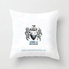 Lord J Logo Throw Pillow