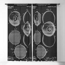 Billiard Balls 1910 Blackout Curtain
